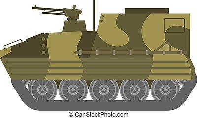 Tank isolated vector illustration - Self propelled artillery...