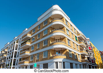 Modern apartment block in Berlin - Modern apartment block...