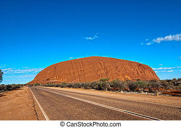 Lights of Ayers Rock, Australia - Lights and Colors of Ayers...