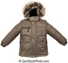 Warm jacket isolated - Winter warm jacket isolated on white...