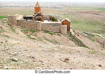 Ancient monastery Khor Virap in Armenia - Ancient monastery...