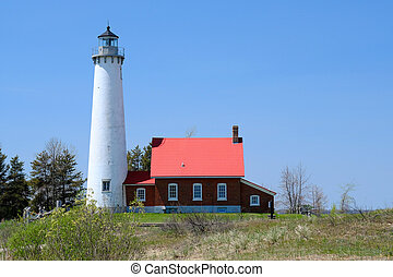 Tawas Point Lighthouse, built in 1876, Lake Huron, Michigan,...
