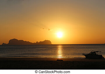Sunset at Koh Sukorn in Trang, Thailand - Beautiful Sunset...