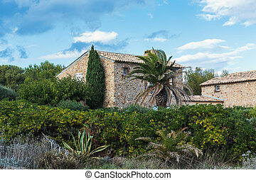 Old village house in Provence, France