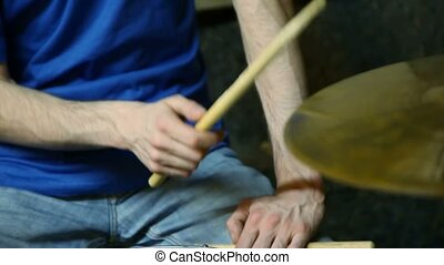 unidentified drummer playing on dums - unidentified drummer...