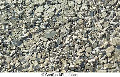 macadam - A close up of rocky gravel stones.