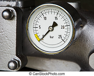 Vintage manometer of a fire truck