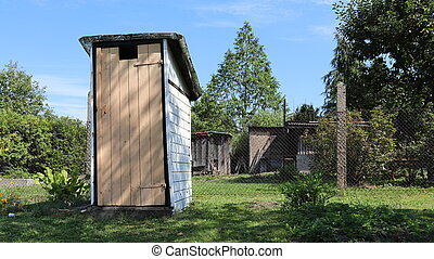 Old wooden disused privy toiled - Old wooden disused privy...