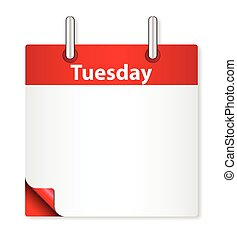 Blank Tuesday Date - A calender date offering a blank...