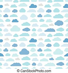 Abstract clouds seamless pattern