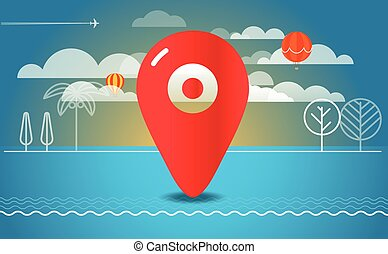 Travel vector illustration. Travel destination concept