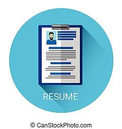 Curriculum Vitae Recruitment Candidate Document Icon Flat...