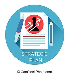 Strategy Planning Business Economy Icon
