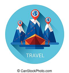 Camping Tent Travel Tourism Icon