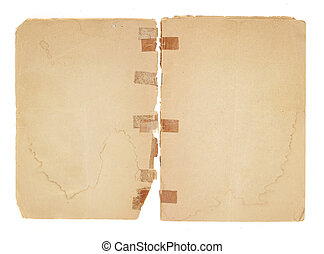 Blank, Old Facing Pages - Two blank facing pages from an old...