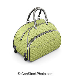 Road quilted bag 3d rendering - Road quilted bag isolated on...