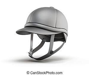 Jockey equestrian helmets. 3d rendering. - Jockey equestrian...