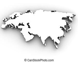 Eurasia. 3d