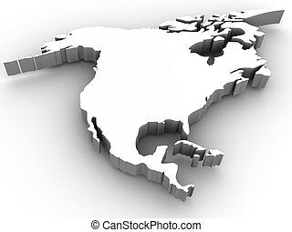 Southern America. 3d
