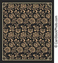 Baroque and floral wallpaper