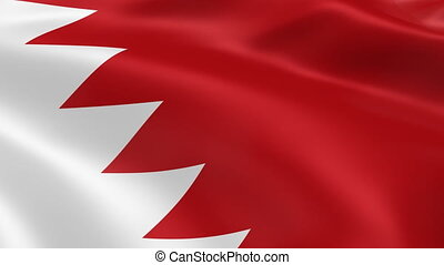 Bahraini flag in the wind Part of a series