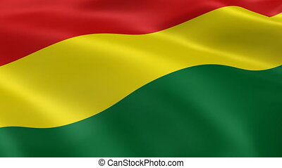 Bolivian flag in the wind. Part of a series.