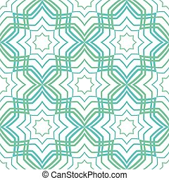 Abstract geometric ornament Vector light pattern Simple...