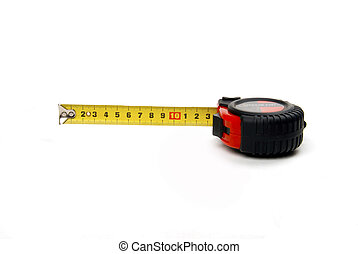 Tape measure showing thirteen centimeters
