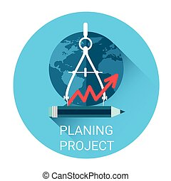 Planning Project Strategy Business Icon