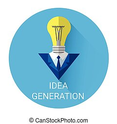 New Idea Generation Light Bulb Business Icon