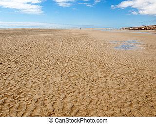 Beach Playa de Sotavento, Canary Island Fuerteventura, Spain