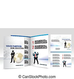 brochure design for Business artworks Vector illustration