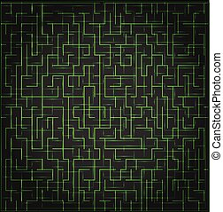 Abstract vector technology background, digital maze