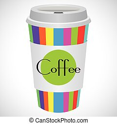 Vector Illustration Coffee 2 go for creative use in graphic...