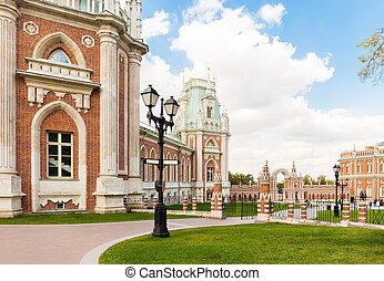Grand Tsaritsyno palace - Tsaritsyno palace in Moscow with...
