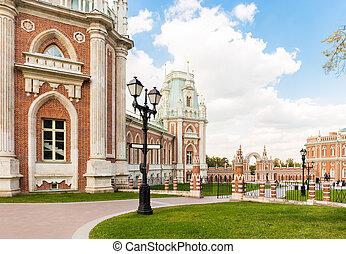 Grand Tsaritsyno palace - Tsaritsyno palace in Moscow with...
