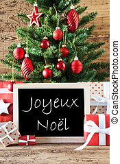 Colorful Tree With Text Joyeux Noel Means Merry Christmas -...