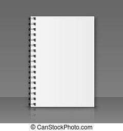 Realistic vector notebook - Blank realistic spiral notebook....