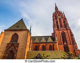 Frankfurt Cathedral HDR - High dynamic range HDR Frankfurter...