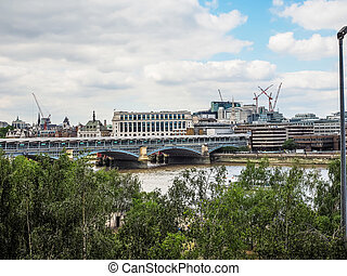 Blackfriars bridge in London HDR - High dynamic range HDR...