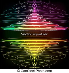Rainbow colors vector vertical equalizer