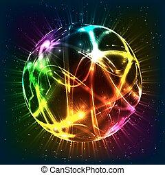 Neon shining vector sphere