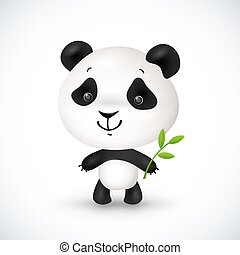 Cute little vector panda