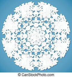 Lacy paper vector napkin - Lacy ornate cut out paper vector...