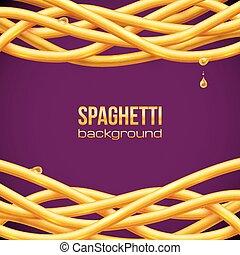 Vector oily spaghetti frame - Vector yellow oily spaghetti...
