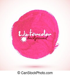 Pink acrylic paint circle, vector texture for your design