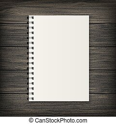 Realistic vector notebook - Blank realistic spiral notebook...