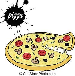 hot tasty pizza
