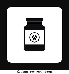 Treatment solution for animals icon, simple style -...