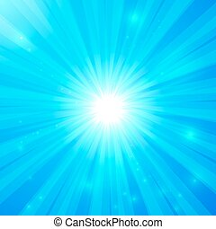 Blue vector shining light background